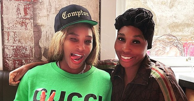 Venus Williams Is All Smiles with Sister Serena in a Green Gucci Sweater Amid Australian Open