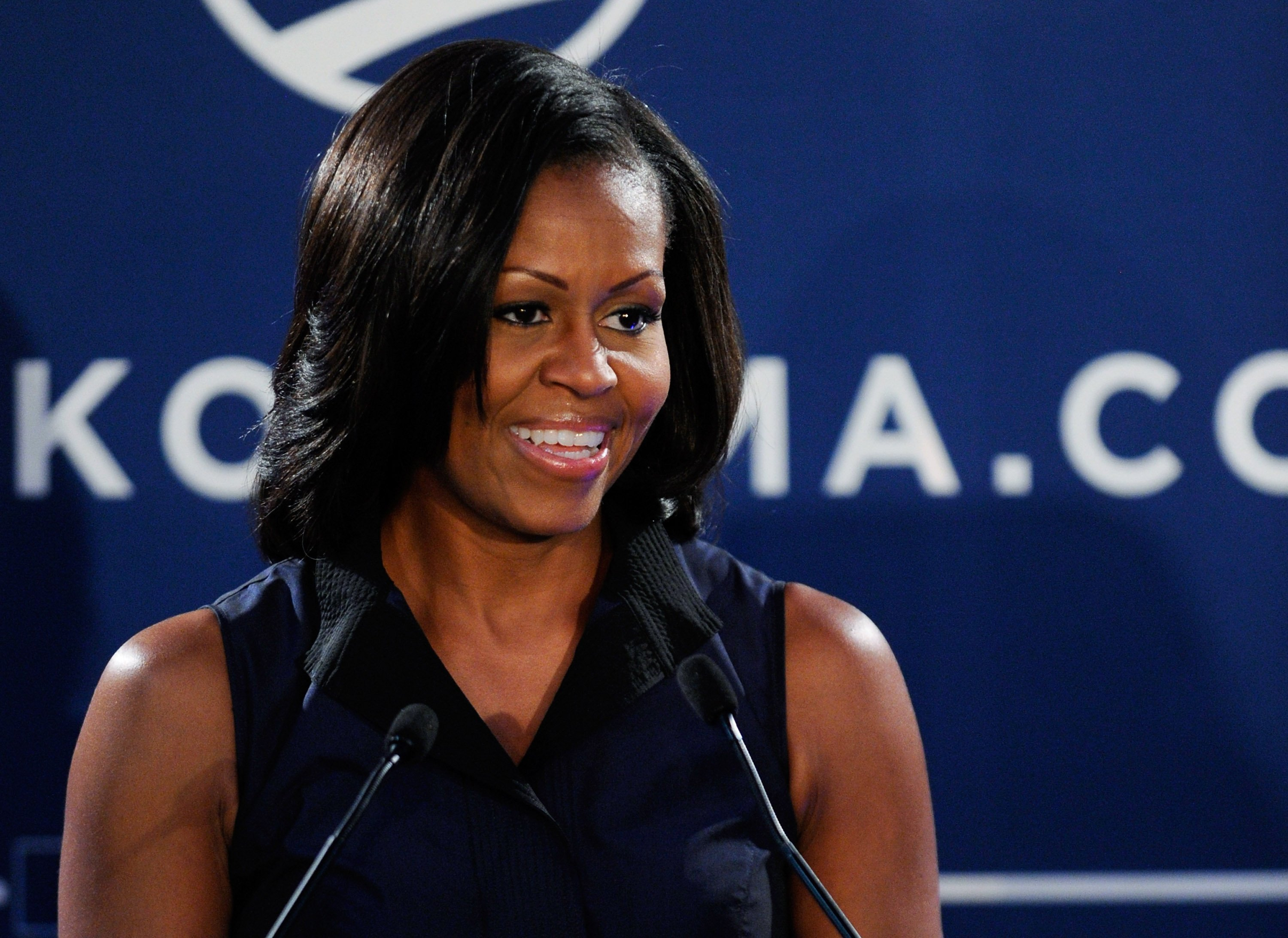 Michelle Obama at a speaking engagement as First Lady in 2012. | Photo: Getty Images