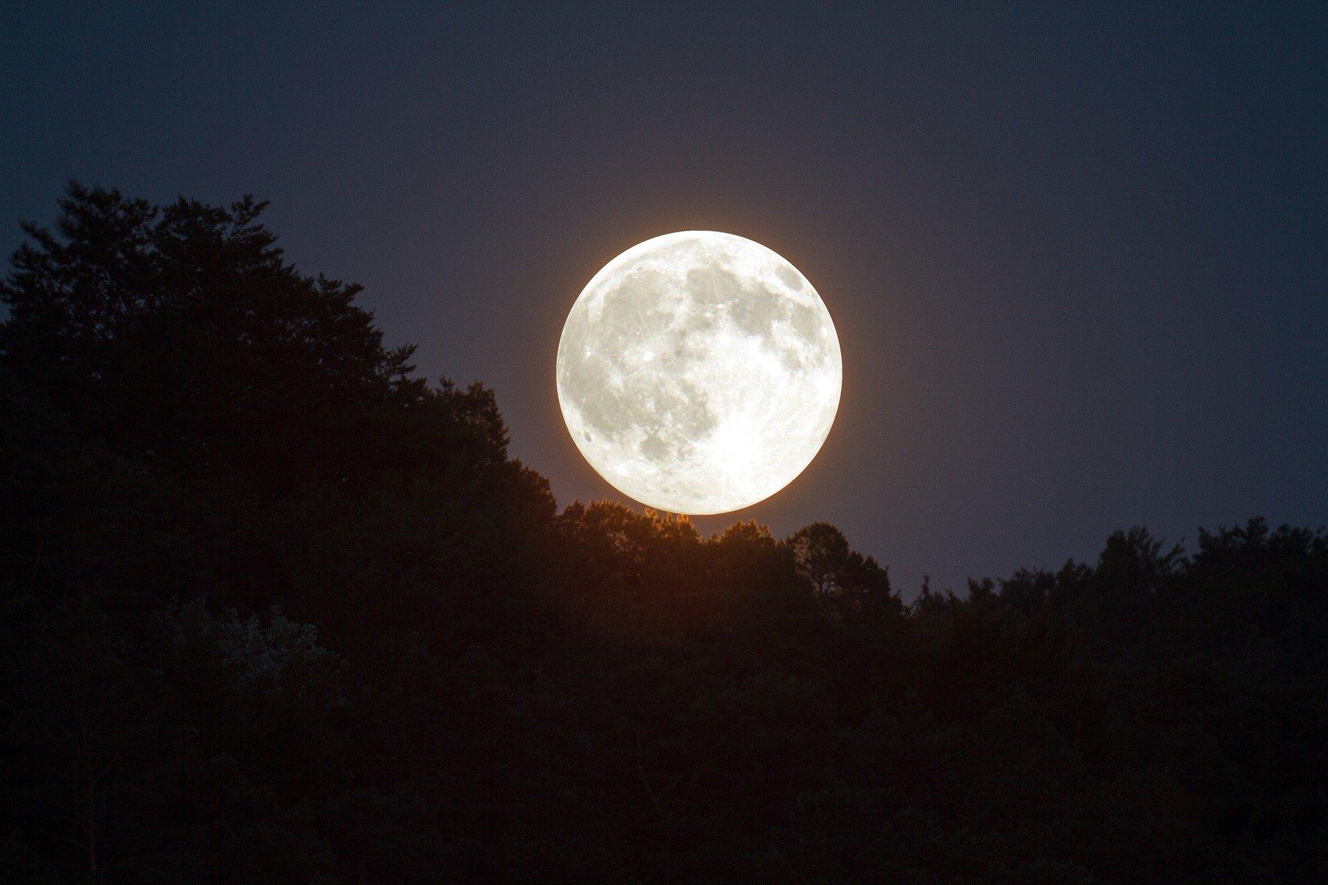 Luna llena. | Foto: Pixabay