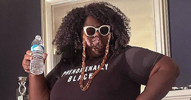 Gabby Sidibe's Fiancé Shares Photo Showing Her Hourglass Figure in a Tight T-Shirt & Pants