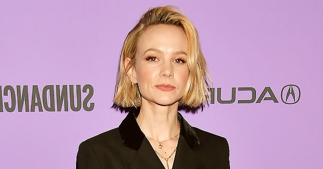 Carey Mulligan Steals the Show Wearing a Valentino Sequin Gold Bandeau Top With a Ball Skirt
