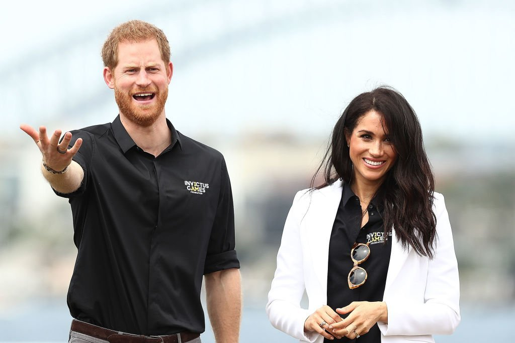 Prince Harry and Meghan Markle at the JLR Drive Day at Cockatoo Island on October 20, 2018 | Photo: GettyImages