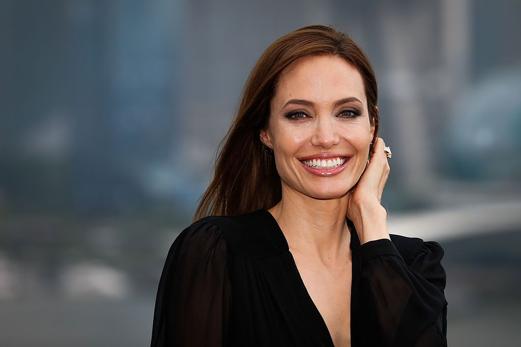 """Actress Angelina Jolie at """"Maleficent"""" photocall at The Bund on June 3, 2014 