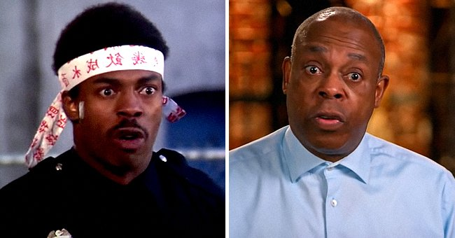 """Michael Winslow as Officer Larvell Jones in """"Police Academy"""" and on the set of """"America's Got Talent""""   Photo: Youtube.com/agt + Youtube.com/MOVIECLIPS"""