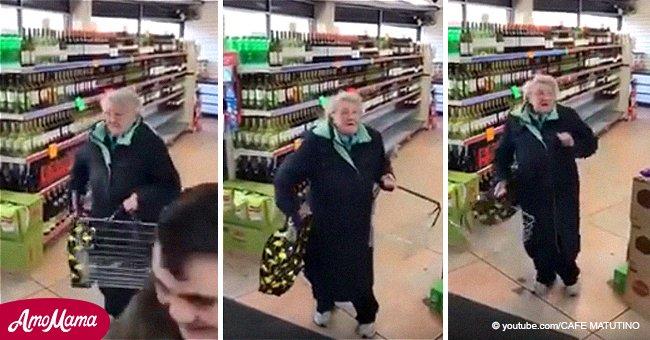 Cette mamie entend sa chanson préférée dans un supermarché et montre ses mouvements de danse épiques