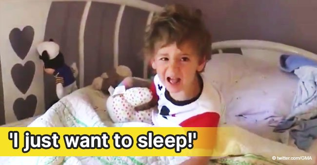 Cranky 3-year-old's reaction to family waking him up with birthday song still melts hearts