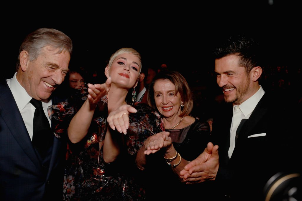From left: Paul Pelosi, Katy Perry, Nancy Pelosi, and Orlando Bloom at MusiCares Person of the Year 2019 honoring Dolly Parton | Photo: Getty Images