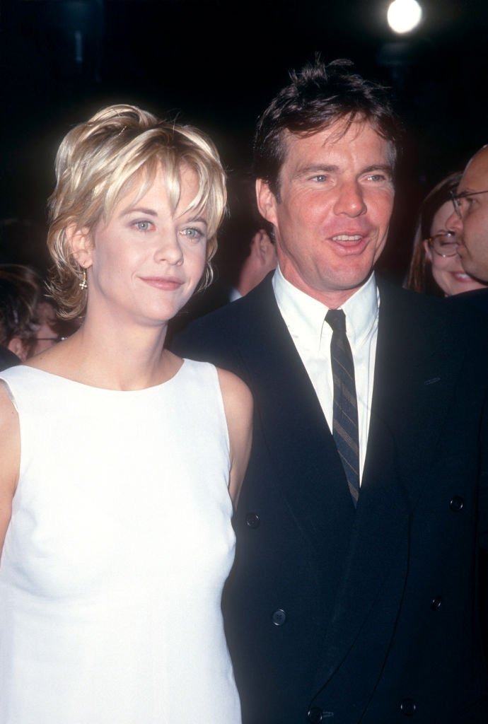Actress Meg Ryan and husband actor Randy Quaid arrive during the 'French Kiss' Hollywood Premiere on May 1, 1995 at the Mann Chinese Theatre in Hollywood, California. | Photo: Getty Images