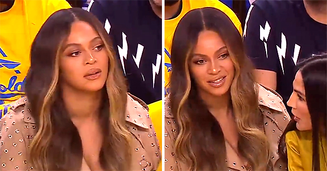 Beyoncé's Expression as Warriors' Owner's Wife Leans over Her to Chat with Jay-Z Goes Viral