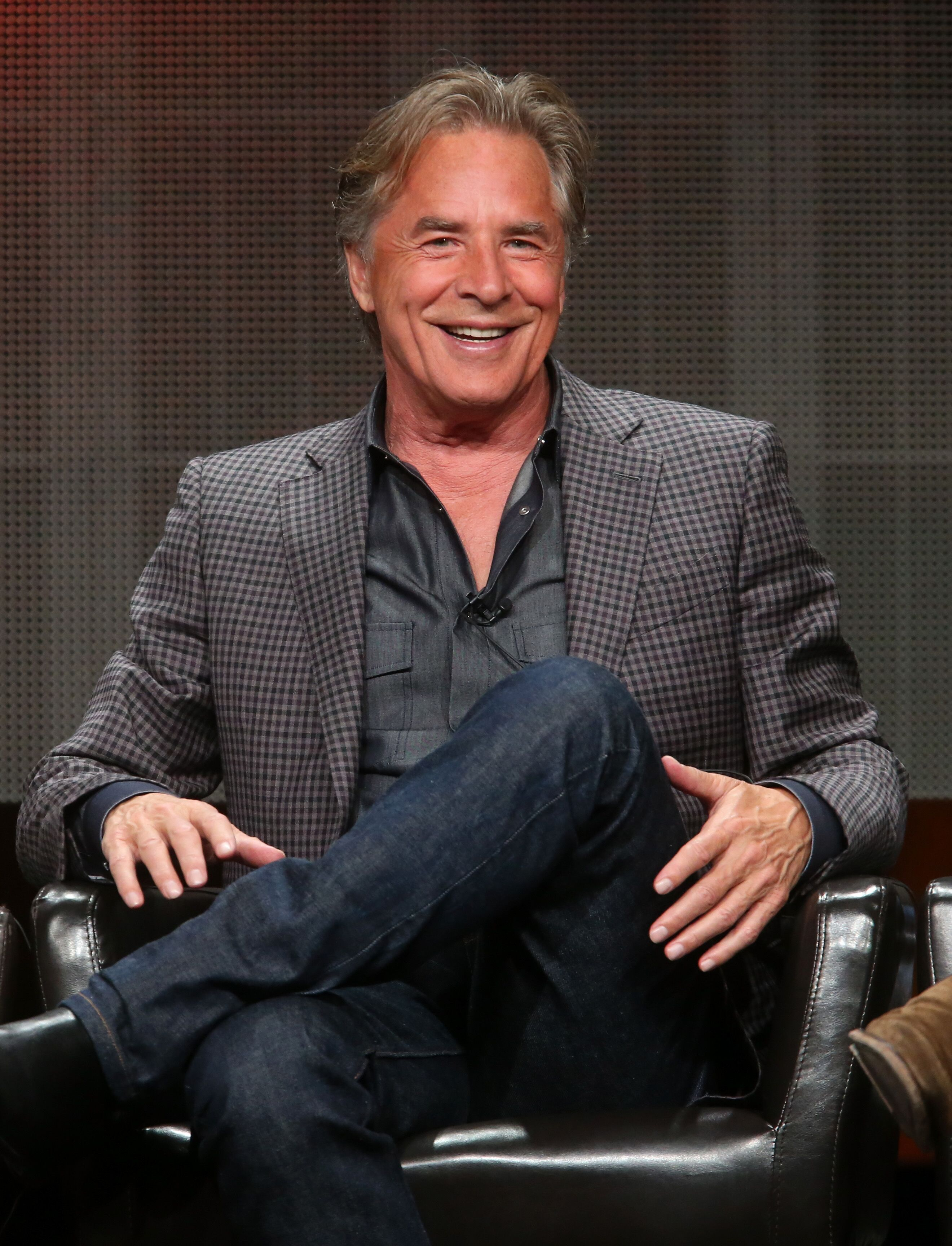 Actor Don Johnson speaks onstage during the 'Blood & Oil' panel discussion at the ABC Entertainment portion of the 2015 Summer TCA Tour | Getty Images