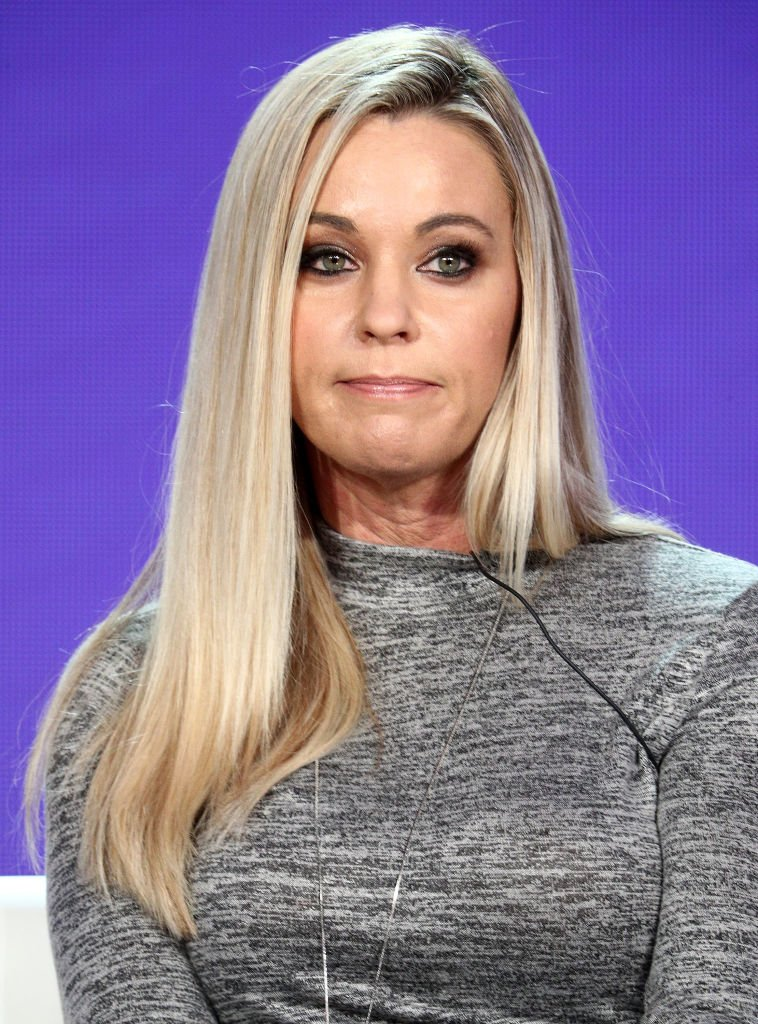 "Kate Gosselin of the television show ""Kate Plus Date speaks during the HGTV segment of the 2019 Winter Television Critics Association Press Tour at The Langham Huntington, Pasadena 
