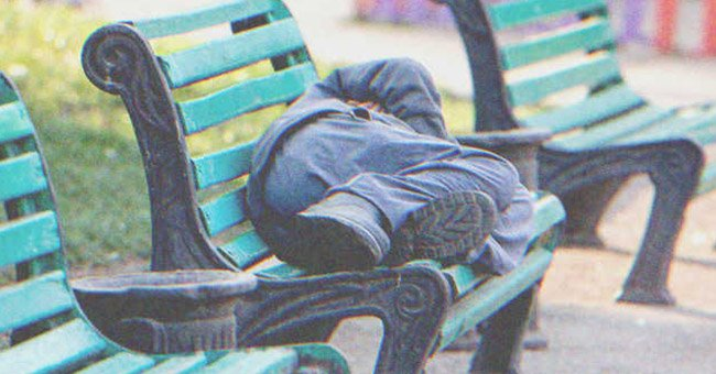 A homeless man lived in the park.   Source: Shutterstock