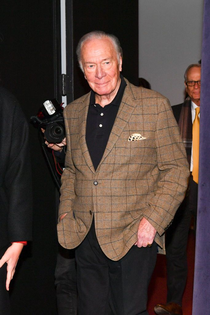 """Christopher Plummer at """"The Man Who Invented Christmas"""" New York screening at Florence Gould Hall in New York City   Photo: Dia Dipasupil/Getty Images"""