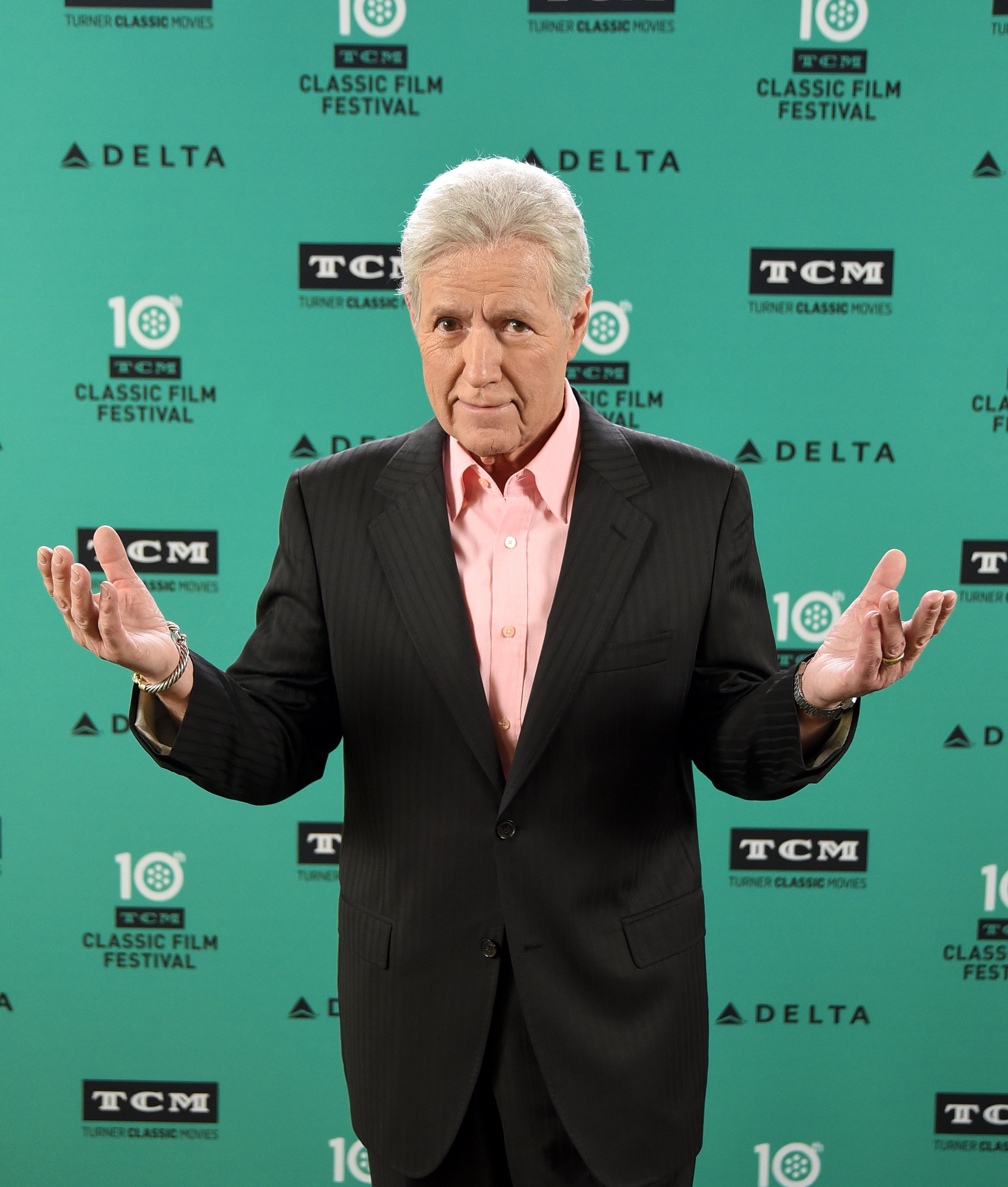 "Alex Trebek attends the screening of ""Wuthering Heights"" in Hollywood, California on April 13, 2019 
