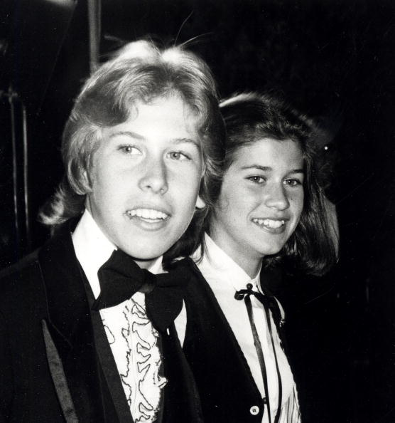 "Nancy McKeon and actor Phillip McKeon attending the premiere party for ""The Muppets Go Hollywood"" on April 6, 1979 