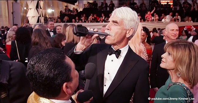 Sam Elliott Drinks Tequila from the Mic as He Reveals Who's 'Styling' His Famous Moustache