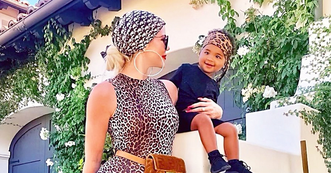 Khloé Kardashian Shares Cute Snaps of Her and True in Matching Leopard Print Outfits