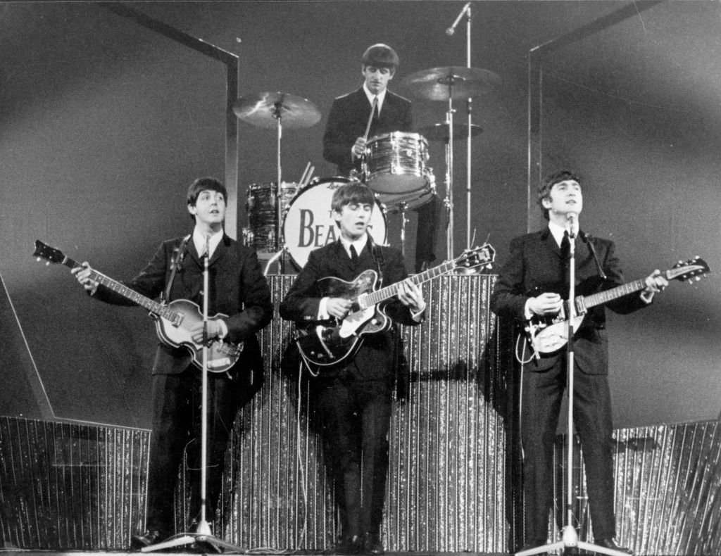 The Beatles on stage at the London Palladium during a performance in front of 2, 000 screaming fans.  | Getty Images / Global Images Ukraine
