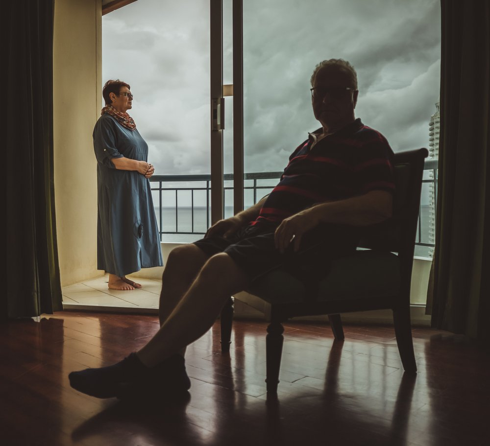 Elderly couple at home. | Source: Shutterstock