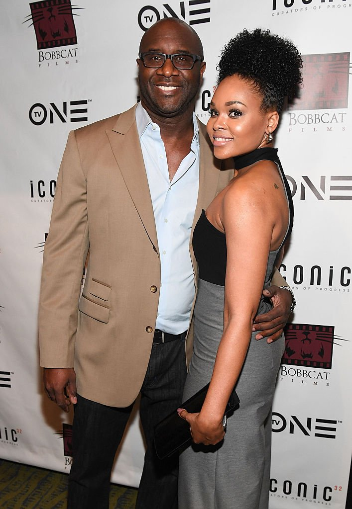 "Roger Bobb and Demetria McKinney at ""Bad Dad Rehab"" Atlanta screening at Midtown Art Cinema Theatre on June 29, 2016 
