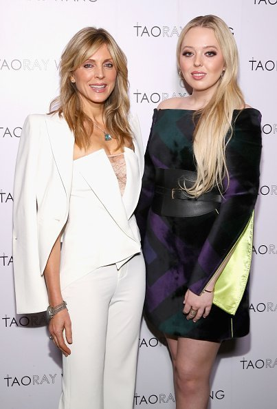 Marla Maples (L) and Tiffany Trump pose backstage for Taoray Wang fashion show during New York Fashion Week: The Shows at Gallery II at Spring Studios on February 9, 2019 in New York City | Photo: Getty Images