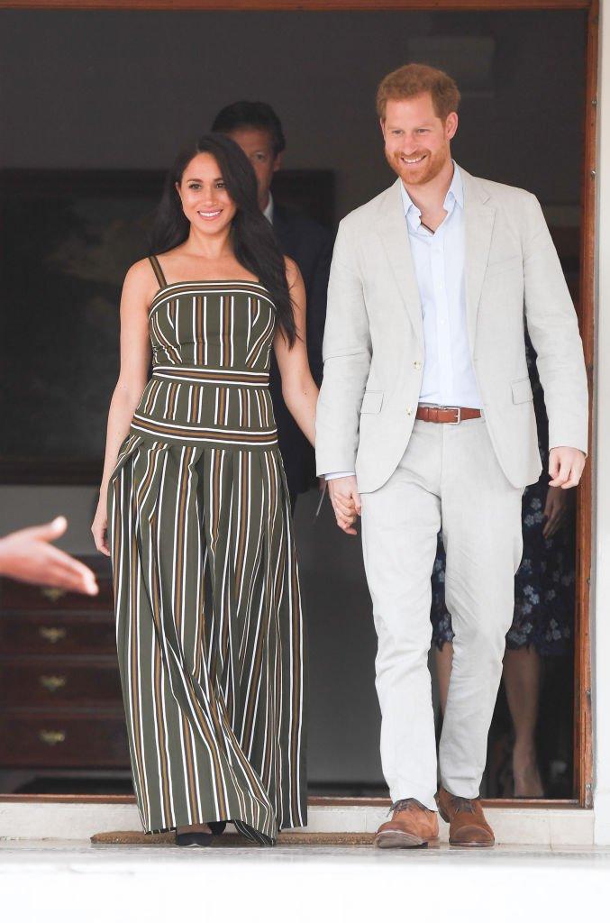 Le prince Harry et Meghan assistent à une réception à la résidence du haut-commissaire britannique. Source: Getty Images