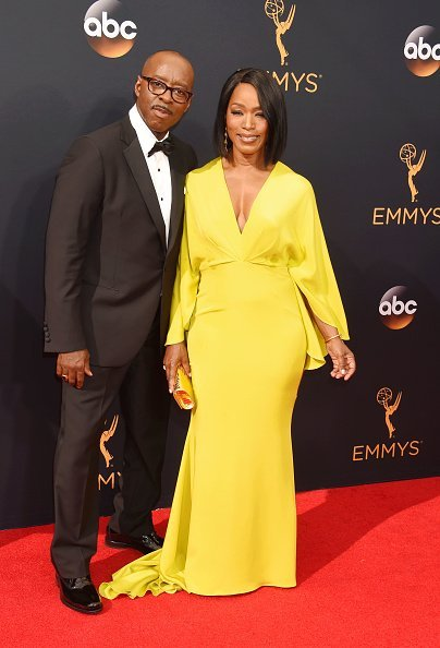 Actress Angela Bassett and husband Courtney B. Vance at the 68th Annual Primetime Emmy Awards at Microsoft Theater | Photo: Getty Images