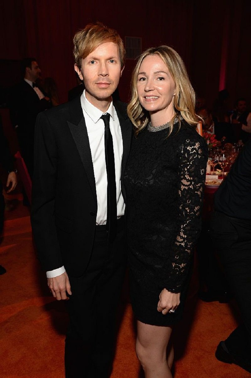 Beck and Marissa Ribisi attending the 24th Annual Elton John AIDS Foundation's Oscar Viewing Party at The City of West Hollywood Park in West Hollywood, California in February 2016. | Image: Getty Images.