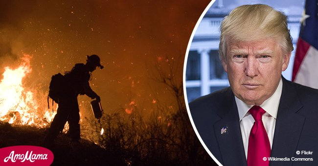 President Donald Trump threatens to cut federal funds to California in light of new wildfires