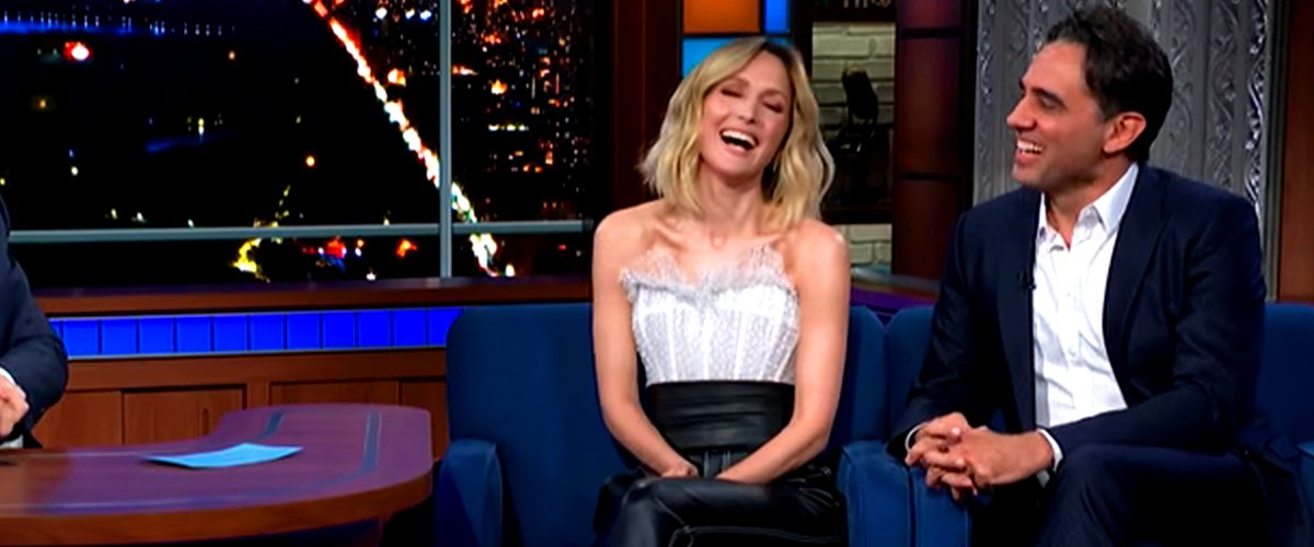 """Rose Byrne and Bobby Cannavale during an appearance on the show, """"The Late Show with Stephen Colbert."""" 