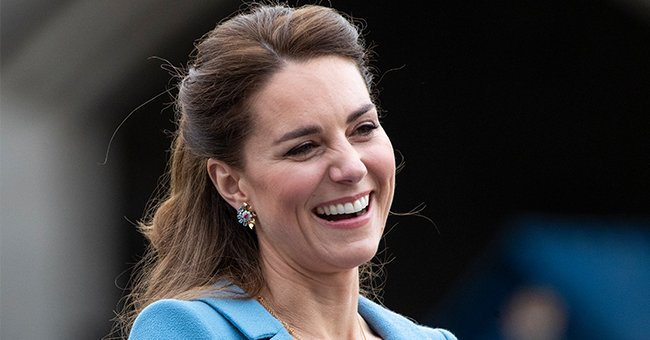 Kate Middleton Looks Nothing Short Of a Princess in a Gorgeous Belted Cinderella-Blue Coat Dress