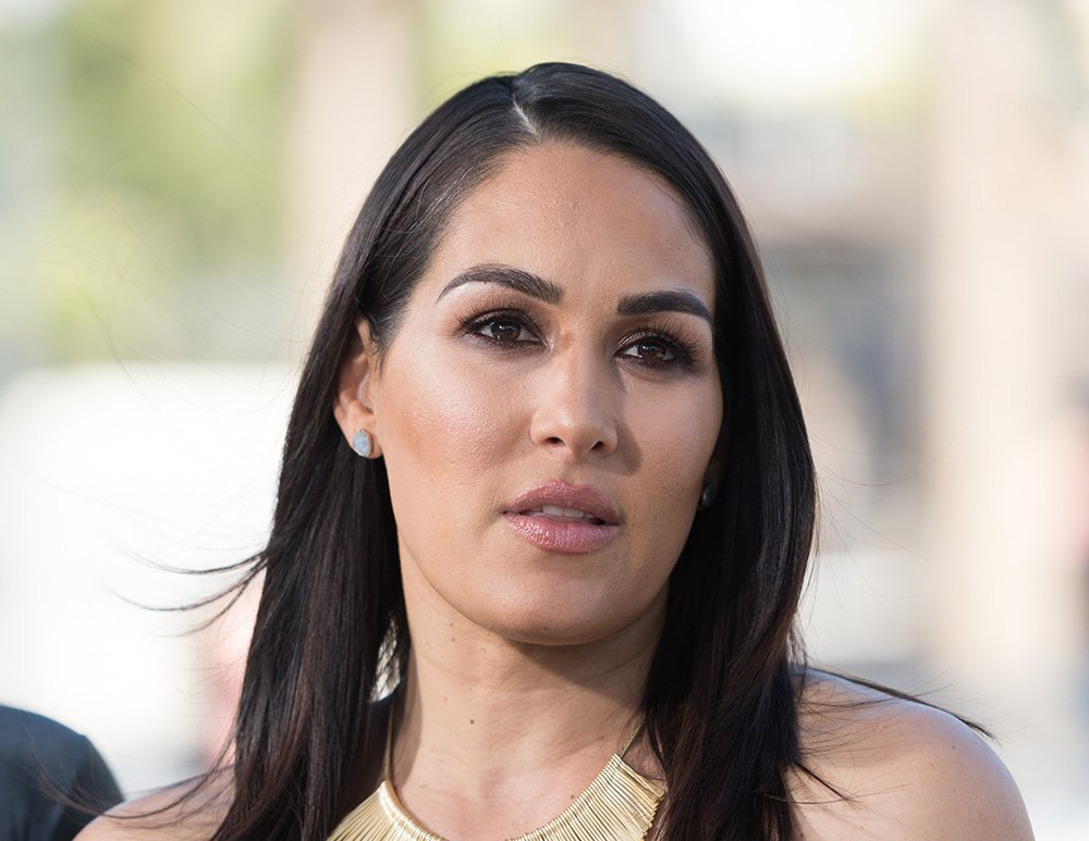 """Brie Bella visiting """"Extra"""" at Universal Studios Hollywood Universal City, California in October 2017. I Image: Getty Images."""