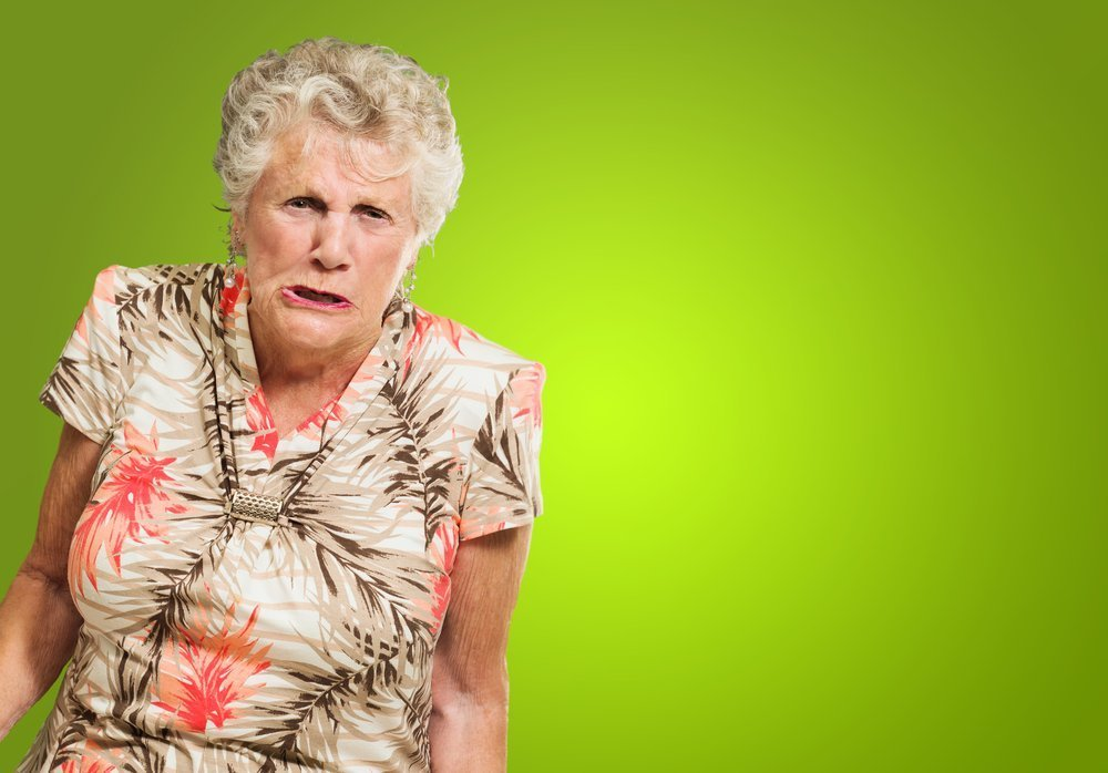 A portrait of an angry senior woman. | Photo: Shutterstock