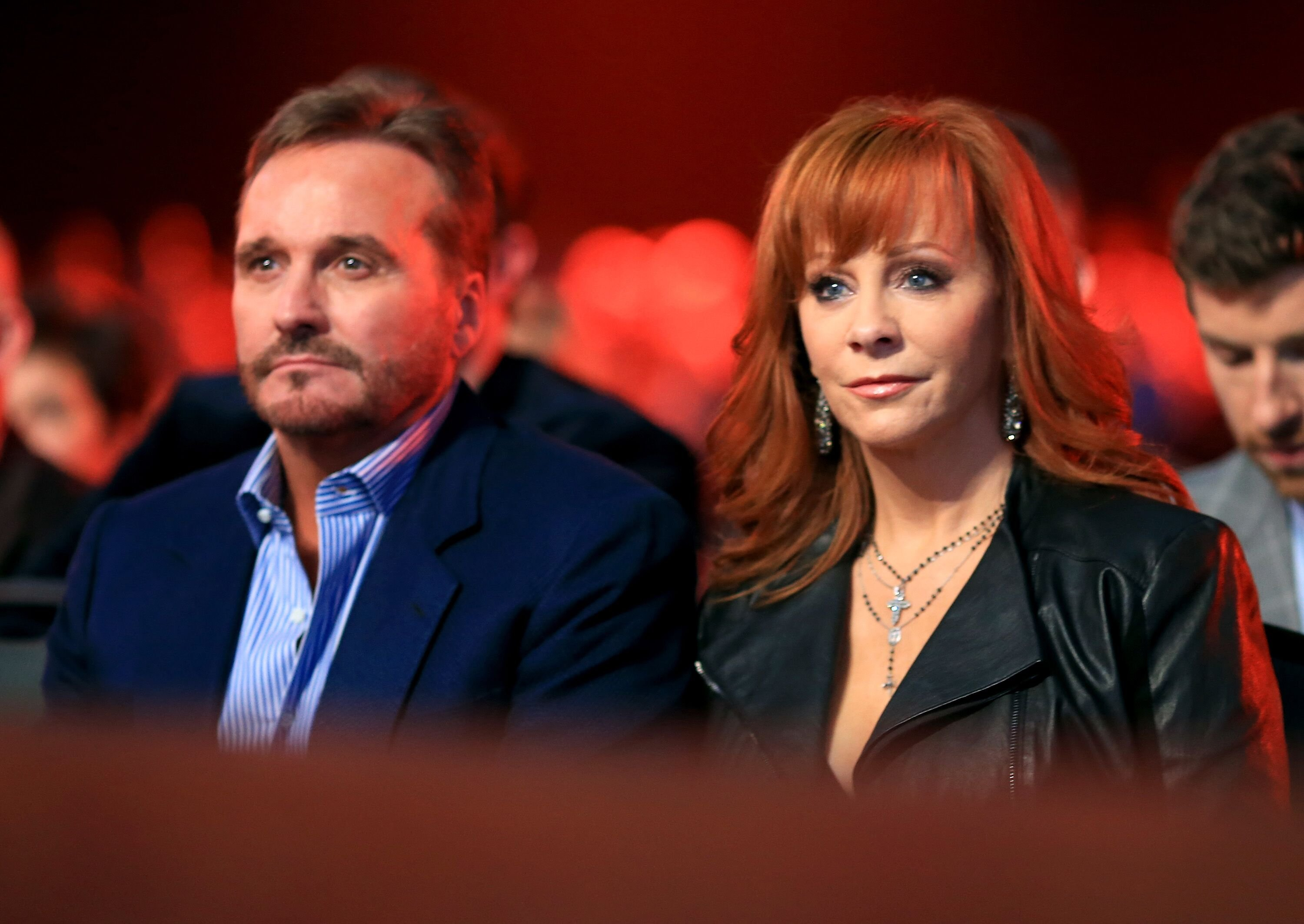 Narvel Blackstock and Reba McEntire attend the 2014 American Country Countdown Awards. | Source: Getty Images