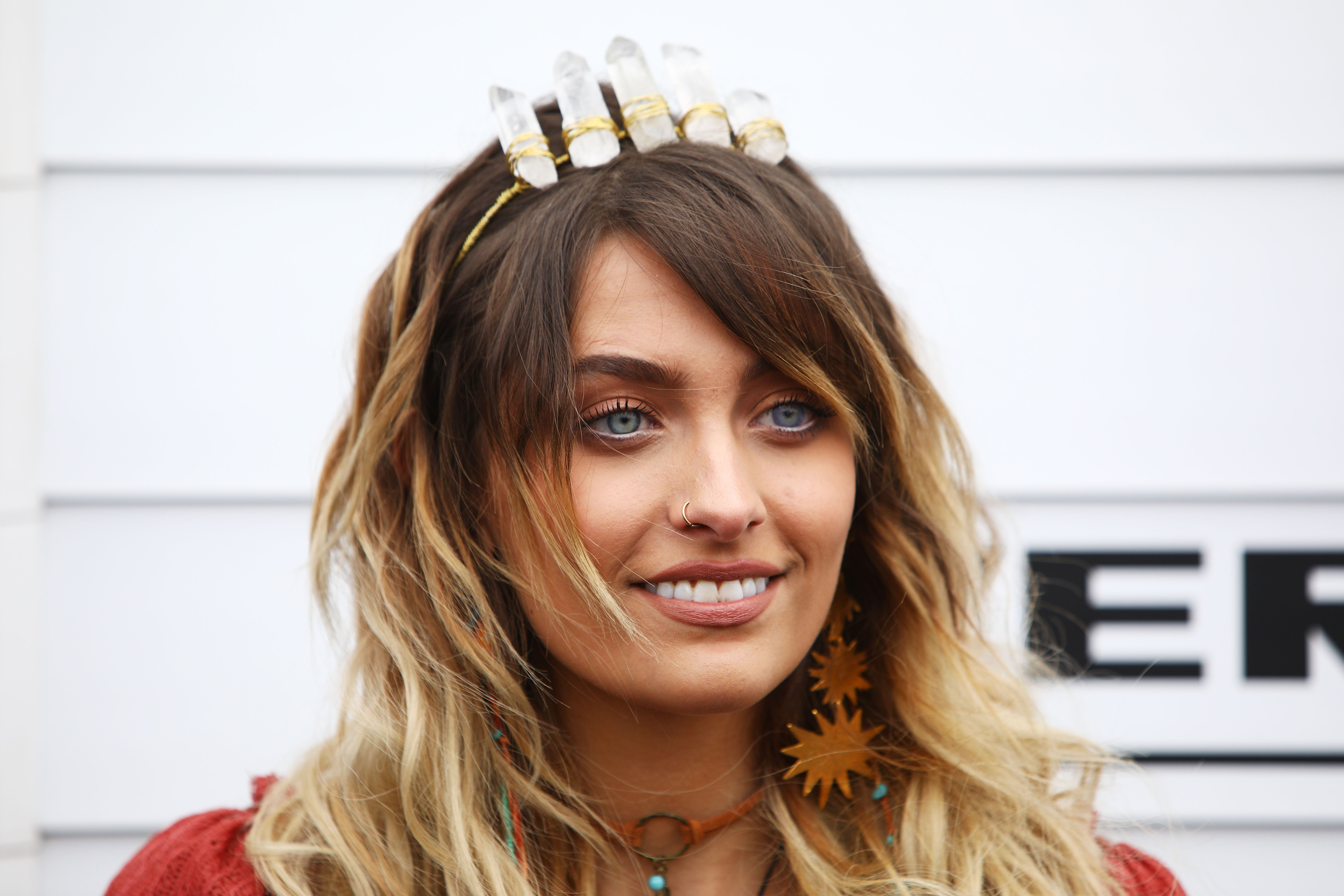 Paris Jackson poses at the Myer Marquee on Emirates Melbourne Cup Day at Flemington Racecourse on November 7, 2017, in Melbourne, Australia.   Source: Getty Images.