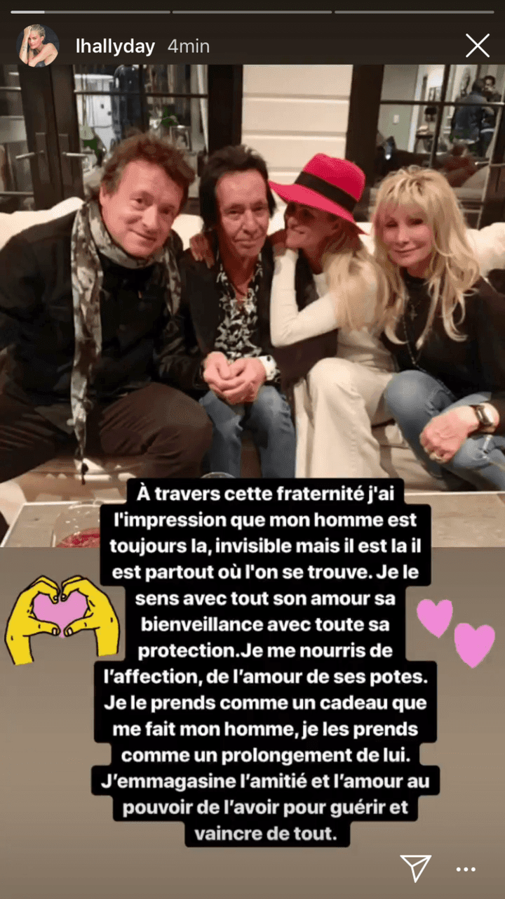 Source : Instagram story / Laeticia Hallyday