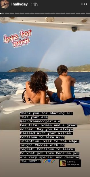 Photo : Stories de Laeticia Hallyday sur Instagram