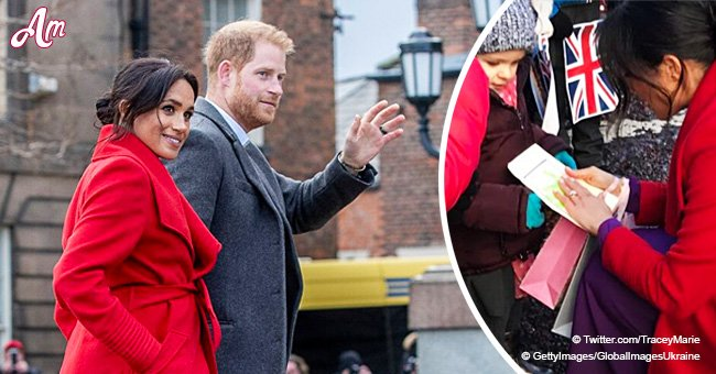 Meghan Markle and Harry share a sweet interaction with blind kids, letting them feel their faces