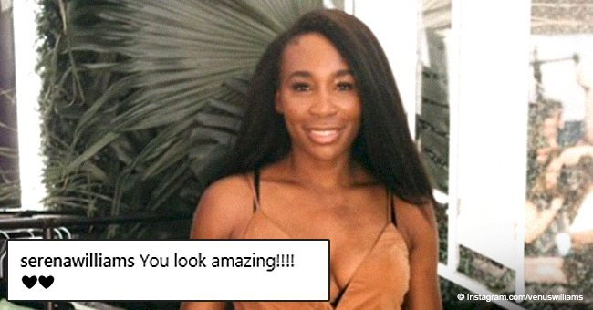 Venus Williams turns heads in plunging camel-colored maxi dress in photos leaving fans in awe