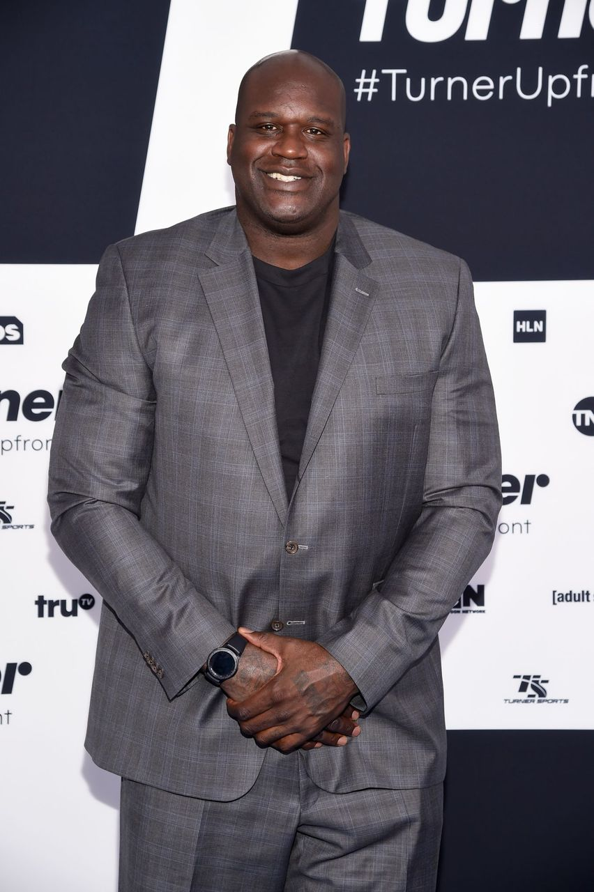 Shaquille O'Neal at the Turner Upfront 2017 arrivals on the red carpet at The Theater at Madison Square Garden on May 17, 2017 in New York City.   Source: Getty Images