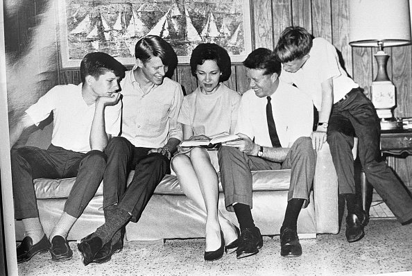 Jimmy and Rosalynn Carter with their three children, Chip, Jack and Jeff, circa 1950s.   Photo: Getty Images