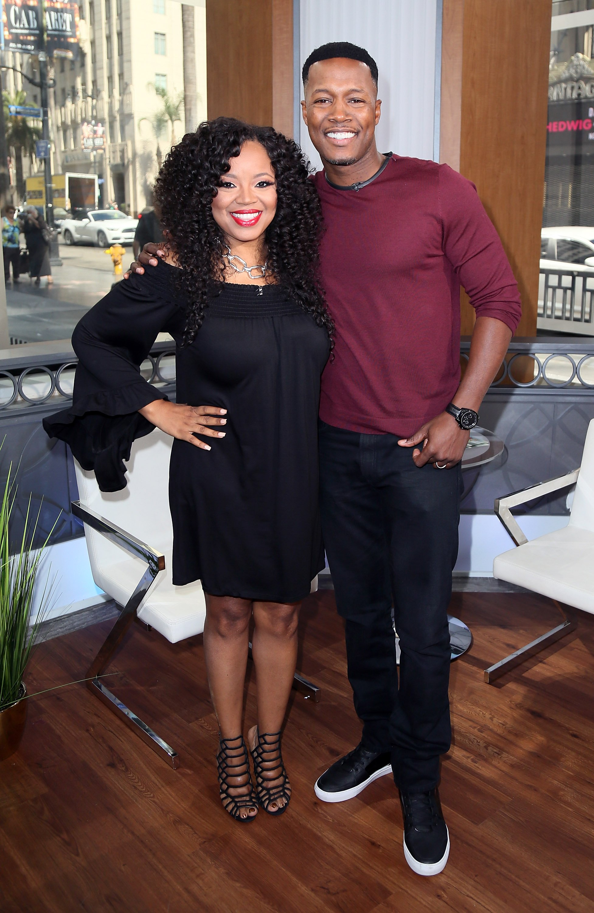 Singer Shanice and Flex Alexander visit Hollywood Today Live at W Hollywood on July 27, 2016. | Photo: GettyImages