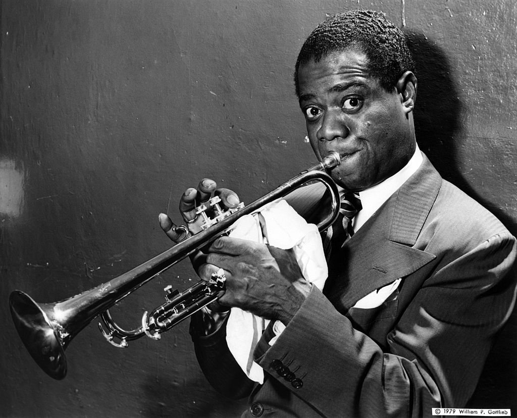 Portrait of Louis Armstrong with trumpet on January 1, 1940 | Photo: Getty Images