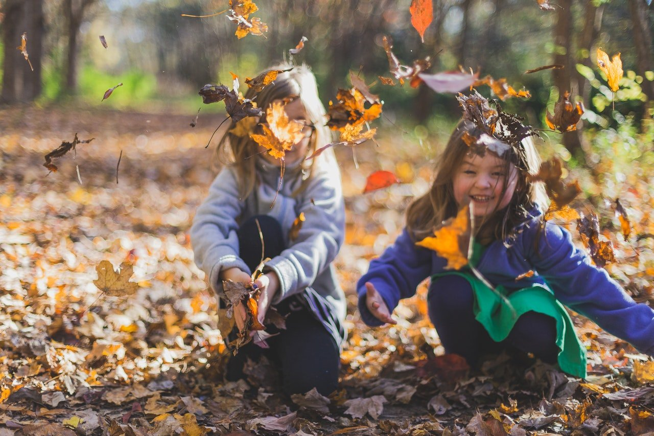 Children playing in the leaves| Photo: Michael Morse from Pexels
