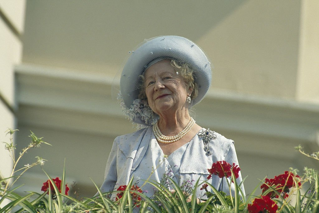 The Queen Mother (1900 - 2002) celebrates her 90th birthday in London, UK, on August 4, 1990. | Source: Getty Images.