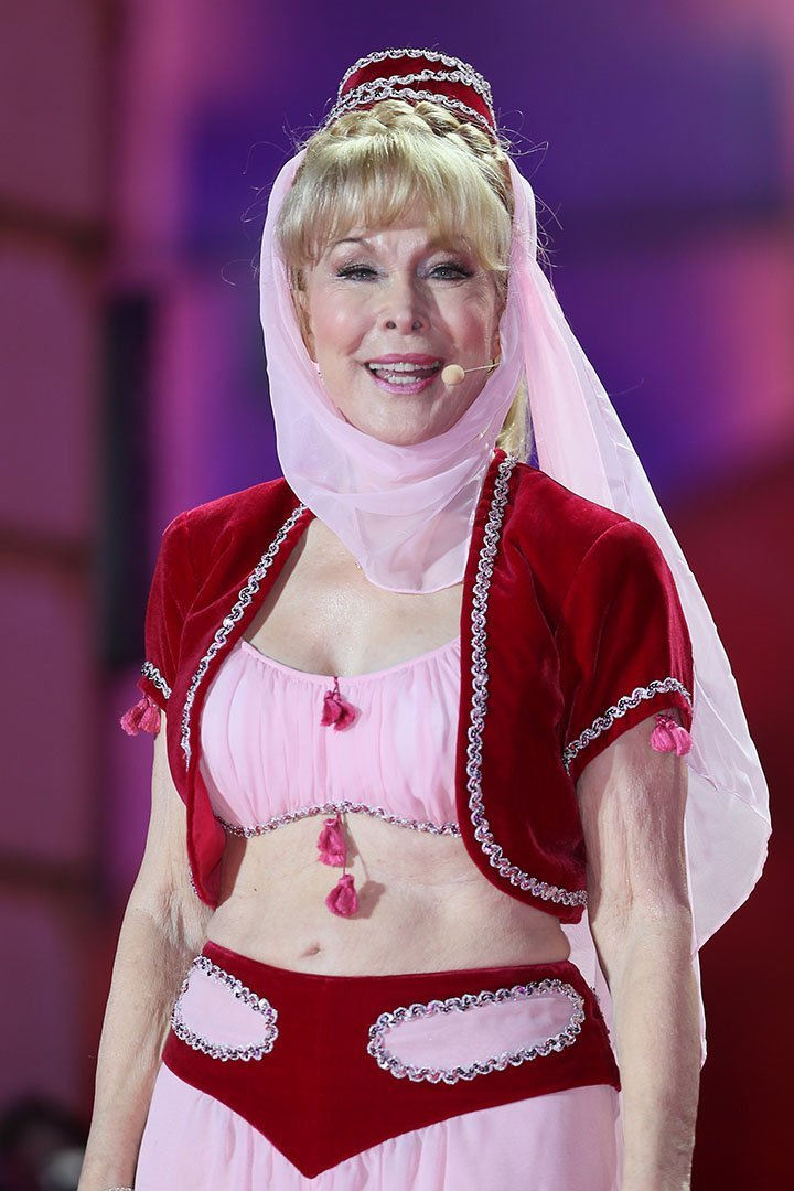 Barbara Eden donning her famous costume in 2013. I Image: Getty Images.