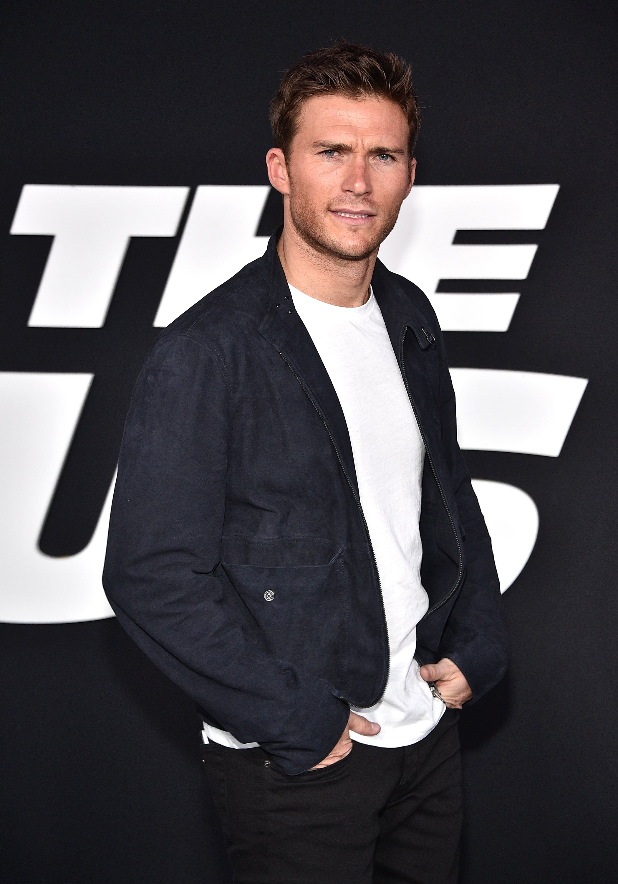 """Scott Eastwood attends the premiere of """"The Fate of the Furious"""" in New York City on April 8, 2017 