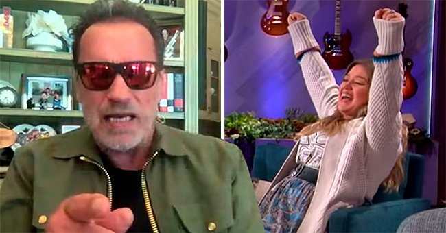 Kelly Clarkson Rejoices as Arnold Schwarzenegger Utters His Iconic Line While Guesting on Her Show