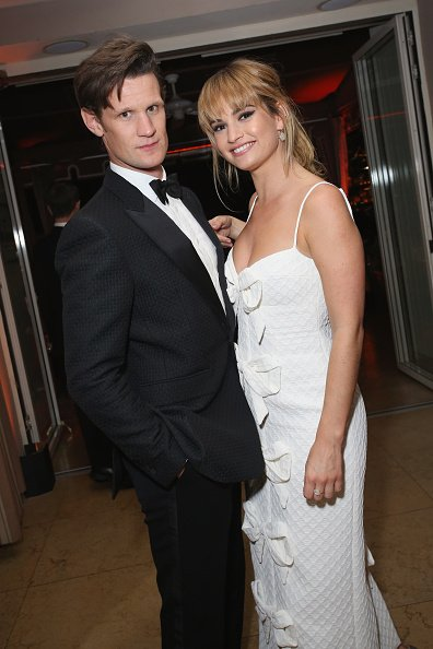 Matt Smith and Lily James on January 21, 2018 in West Hollywood, California. | Photo: Getty Images