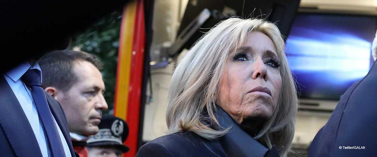La réaction de Brigitte Macron face à l'intérieur incendié de Notre-Dame de Paris